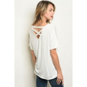 Tops - 🍉ARRIVED🍉 white ladder back T-shirt